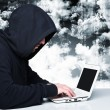 Hacker on duty — Stock Photo