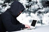 Hacker on duty — Stock Photo