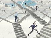 Escaleras de trabajo — Foto de Stock