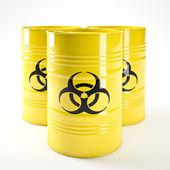 Biohazard barell — Stock Photo