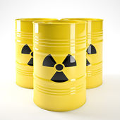 Radioactive barell — Stock Photo