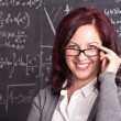 Woman teacher at school — Stock Photo