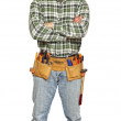 Standing young manual worker — Stock Photo #2448823