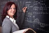 Woman teacher at school — Stock Photo