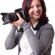 Royalty-Free Stock Photo: Woman with camera
