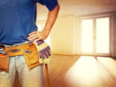 Handyman at home — Stock Photo