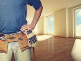Handyman at home — Stock Photo