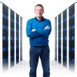 Man in datacenter — Stock Photo #25128035