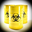 Biohazard barell — Stock Photo