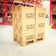 3d pallets in warehouse — Stock Photo #26623265