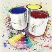 Puede color pintura — Foto de Stock