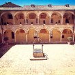 Stock Photo: Assisi cathedarl courtyard