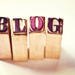 Stock Photo: Blog word