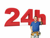 24 hours handyman service — Stock Photo