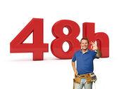 48 timmar handyman service — Stockfoto
