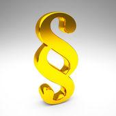 Golden paragraph symbol — Stock Photo