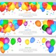 Event banners with colorful balloons — Stock Vector #32660831