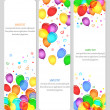 Event banners with colorful balloons — Image vectorielle