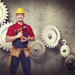 Handyman portrair — Stock Photo #34855337