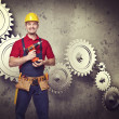 Handyman portrair — Stock Photo