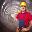 Man in tunnel — Stock Photo #35643287
