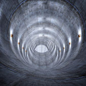 Concrete tunnel — Stock Photo