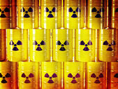 Radioactive barrel — Stock Photo