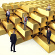People on gold — Stock Photo