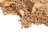Aglomerados de madeira — Fotografia Stock