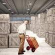 Man in warehouse — Stock Photo
