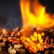 Stock Photo: Wood pellet