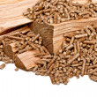 Wood pellet — Stock Photo