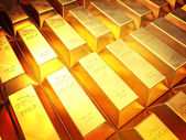 Golden ingot — Stock Photo