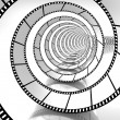 Movie strip spiral — ストック写真