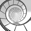 Movie strip spiral — Stok fotoğraf