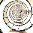 Movie strip spiral — Stock Photo