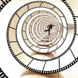 Movie strip spiral — Stockfoto