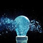 Bulb explosion — Stock Photo