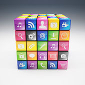 Cube icon set — Photo