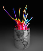 Can colours explosion — Stockfoto