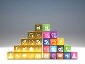 Cube icon set — Stock fotografie