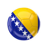Bosnia herzegovina soccer ball — Stock Photo