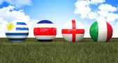 Soccer wordl cup balls — Stock Photo