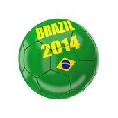 Brazil soccer ball — Stock Photo