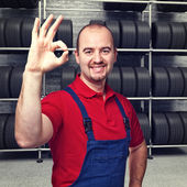 Tire dealer — Stock Photo