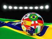 Brezilya futbol topu — Stok fotoğraf
