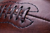Leather vintage football — Stock Photo