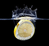 Grapefruit splash — Stock Photo