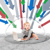 Baby firewall — Stock Photo