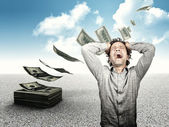 Lost all my money — Stock Photo